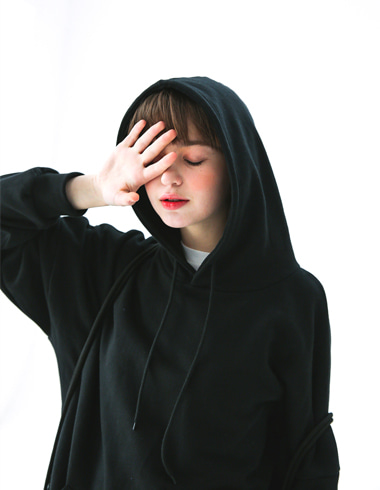 Simple Overfit Hoodie(black)