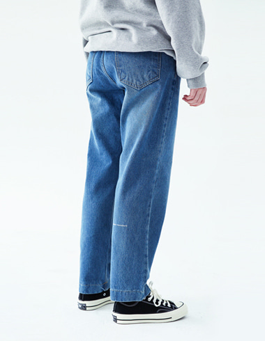 Regular banding pants(light blue)