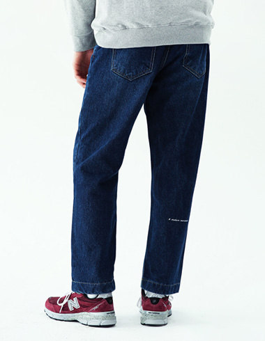 Regular banding pants(dark blue)