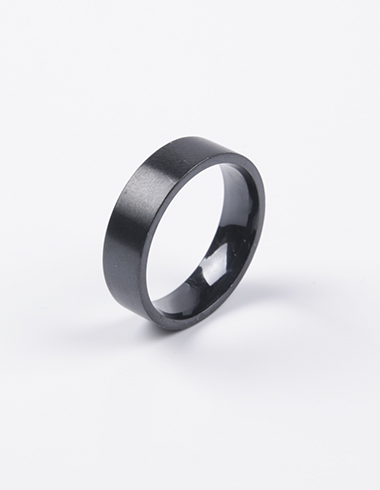 MODERN STEEL RING(BLACK)