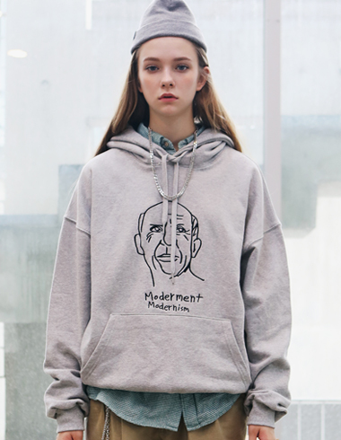 PICASSO DRAWING HOODIE(gray)
