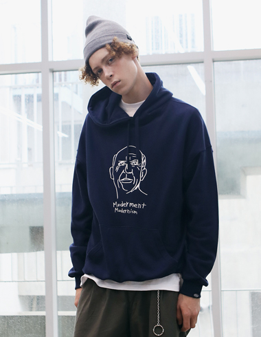 PICASSO DRAWING HOODIE(navy)